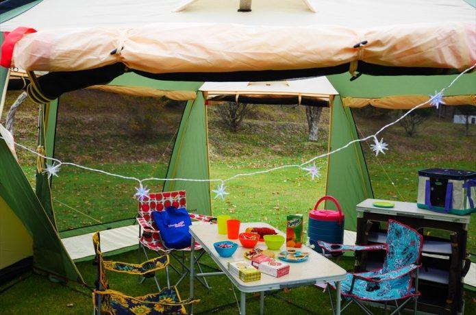 ノースイーグルのかわいいテントの中