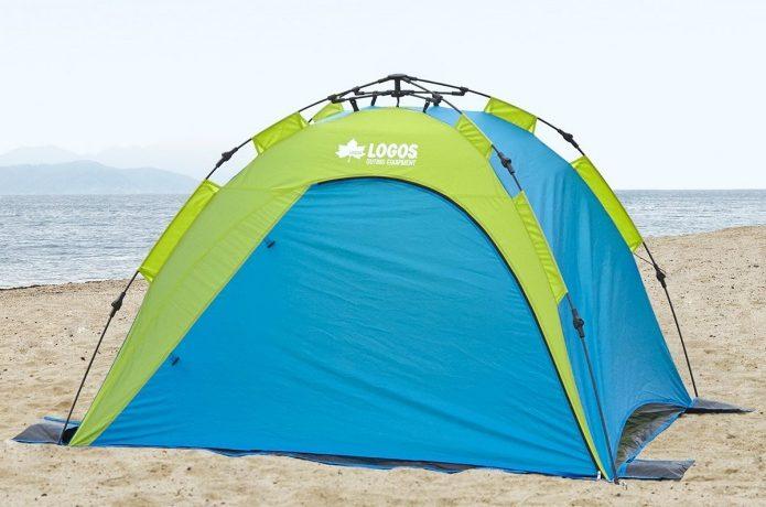 海で使えるロゴスのテント