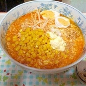 サッポロ一番塩らーめんで作る坦々麺