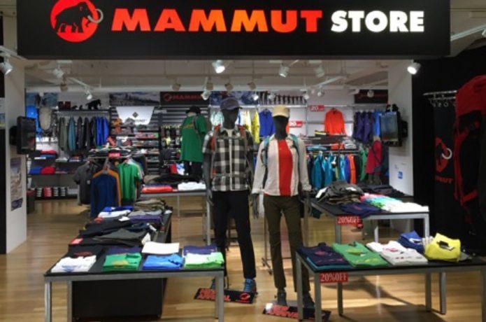 マムートの登山靴が売っているマムートショップ