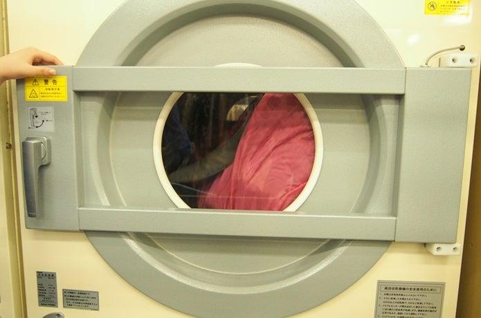 ダウンジャケットを乾燥機にかける