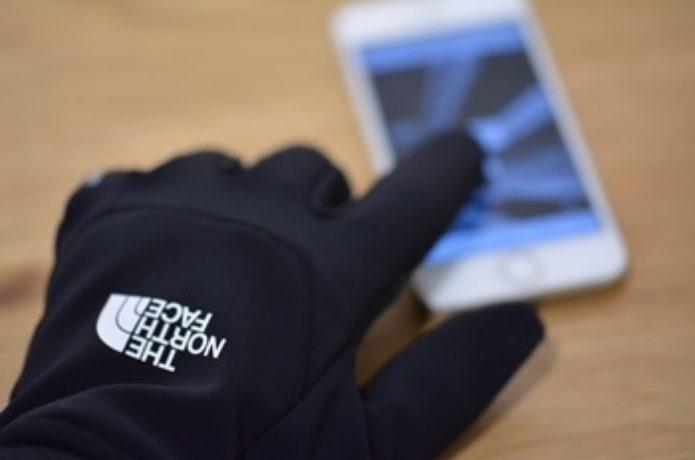 ノースフェイスのスマホが使える手袋