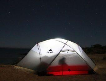 夜の山岳テント