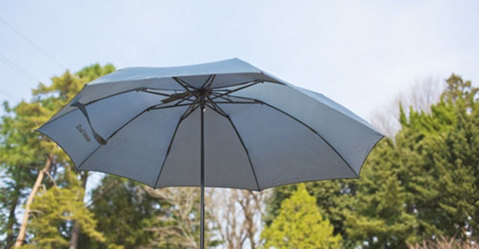 開いた折り畳み傘
