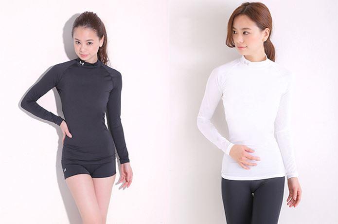 コンプレッションインナーを着ている女性モデル