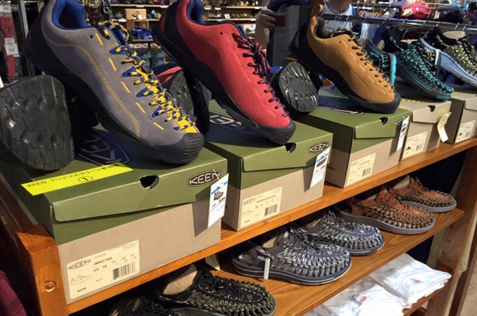 キーンの靴とショップ
