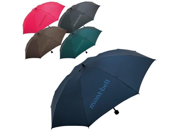 色んな色のモンベルの傘