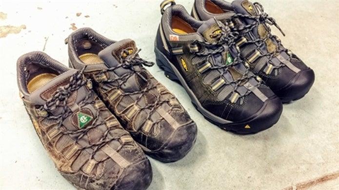 キーンの靴を酷使した様子
