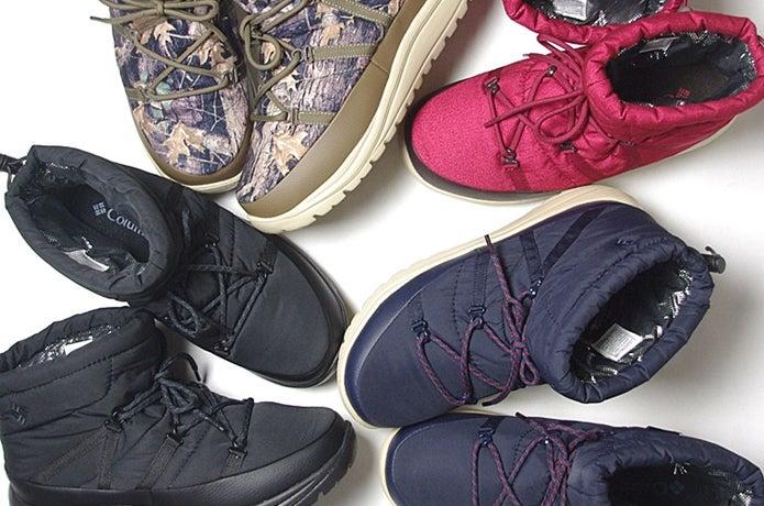 コロンビアの様々なブーツ