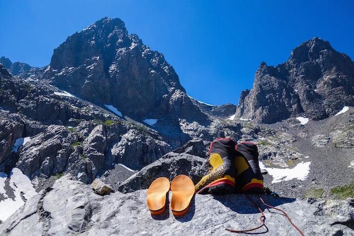 スーパーフィートのインソールと登山靴
