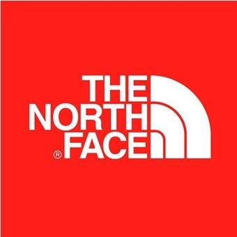 メンズのインナーダウンを売るノースフェイスのロゴ