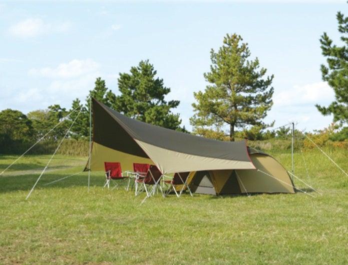 タープの張り方テントと連結2