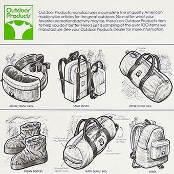 アウトドアプロダクツの商品設計図
