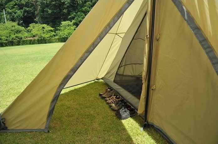 ユニフレームのテントの前室