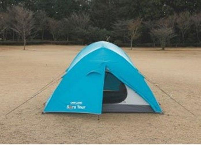 ユニフレームの青いテント