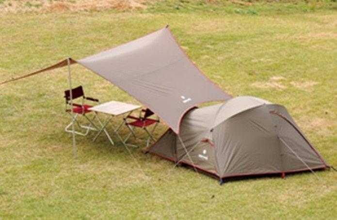 タープの張り方テントと連結1