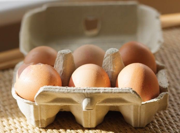 卵ケースに入った卵