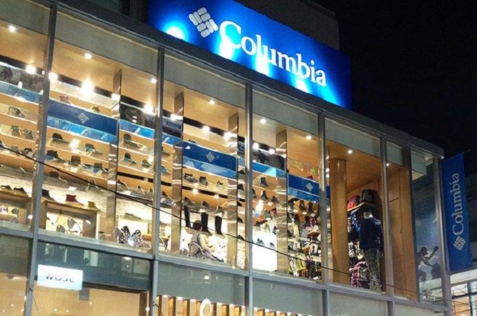 コロンビアの店舗外観