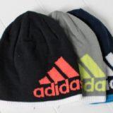 ロゴが大きいアディダスのニット帽