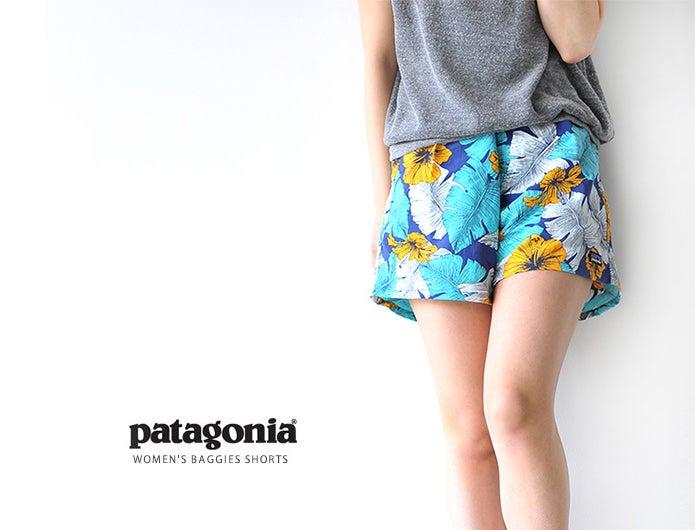 パタゴニアのショーツを履いた女性