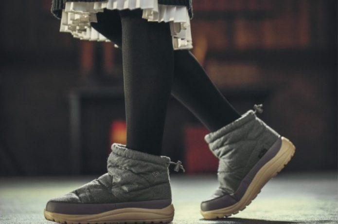 コロンビアのブーツを履いた女性