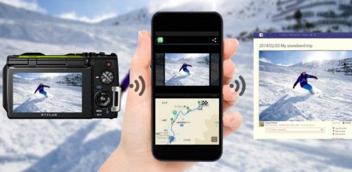 オリンパスの防水カメラと携帯
