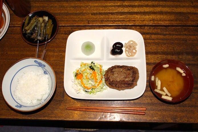 黒百合ヒュッテの夕食
