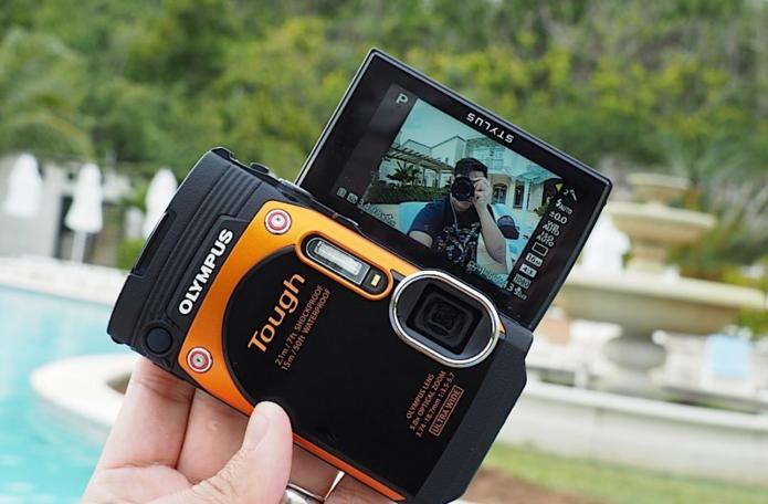 オリンパスの防水カメラで自撮り