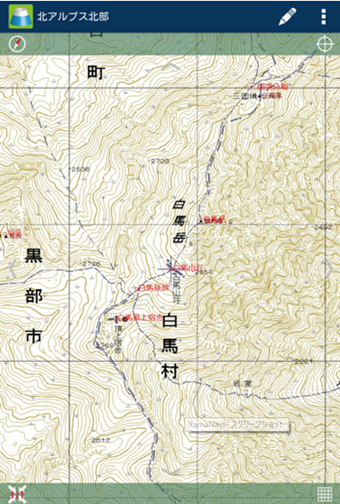 YamaNaviの登山地図アプリ