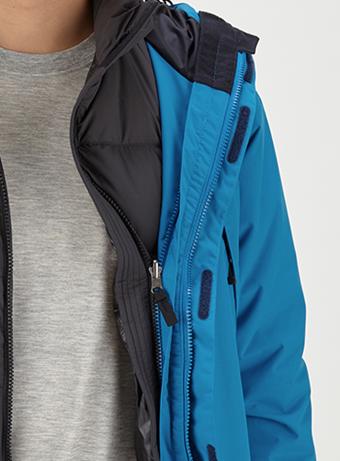 スクープジャケットはジップインジップシステム