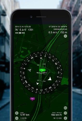 登山地図アプリ