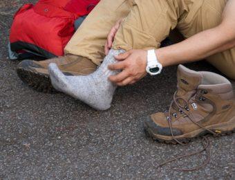 靴擦れを起こした人