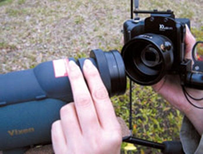 フィールドスコープとカメラを接続