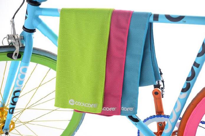 クールコアタオルと自転車