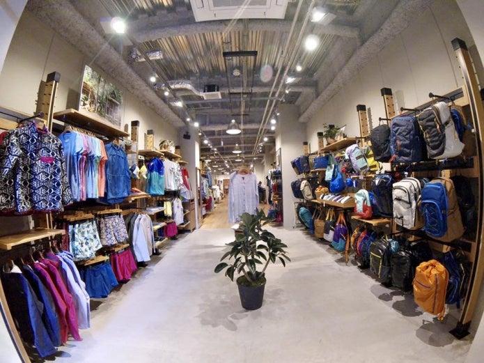 パタゴニアの店内画像