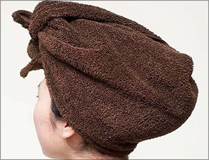 吸水タオルを髪の毛に使う人