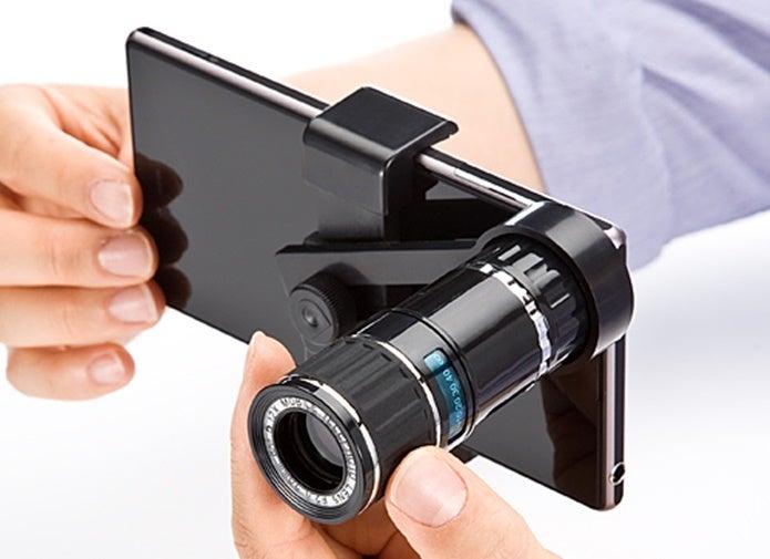 望遠レンズをスマホにつけて撮る
