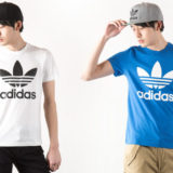 adidasのTシャツが人気