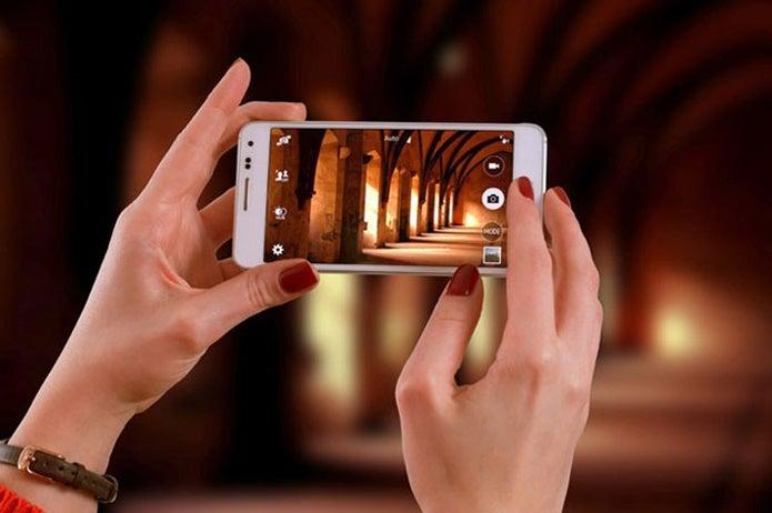 望遠レンズアプリで写真を撮る