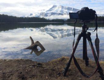 マンフロットbefreeで湖を撮影