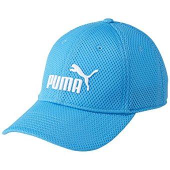 プーマの青いキャップ