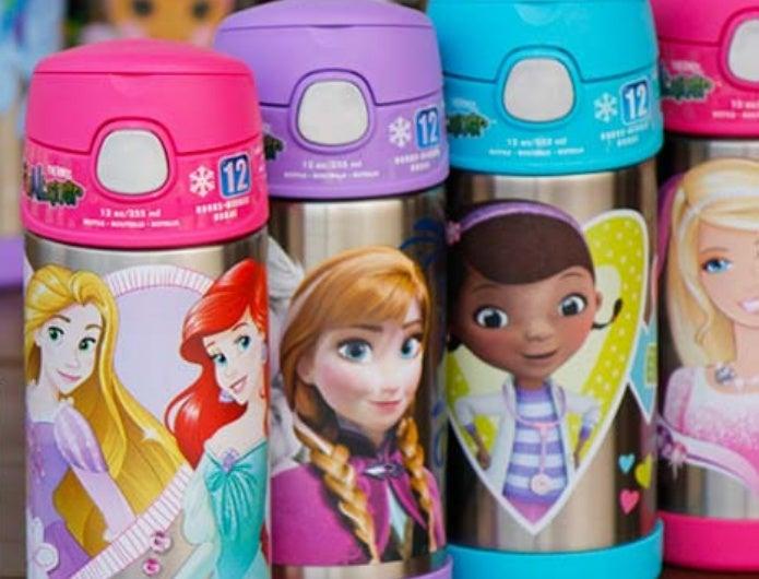 ディズニーのかわいいストロー付きの水筒