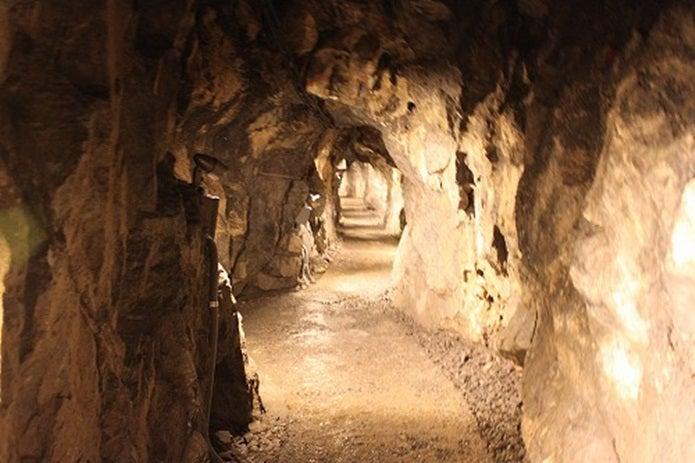 日原鍾乳洞の通路
