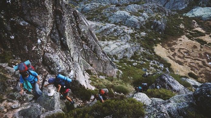 ノースフェイスのフリースは登山でも活躍