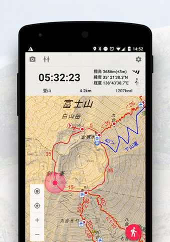 登山地図アプリのYAMAP