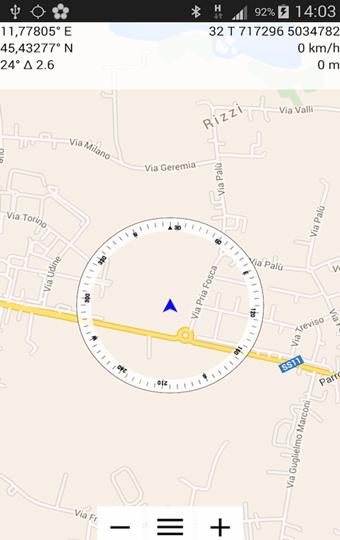 登山地図アプリのCommander Compass Lite
