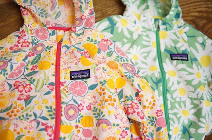 パタゴニアのカラフルなキッズジャケット