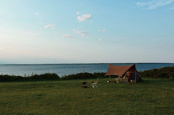 タープがある草原