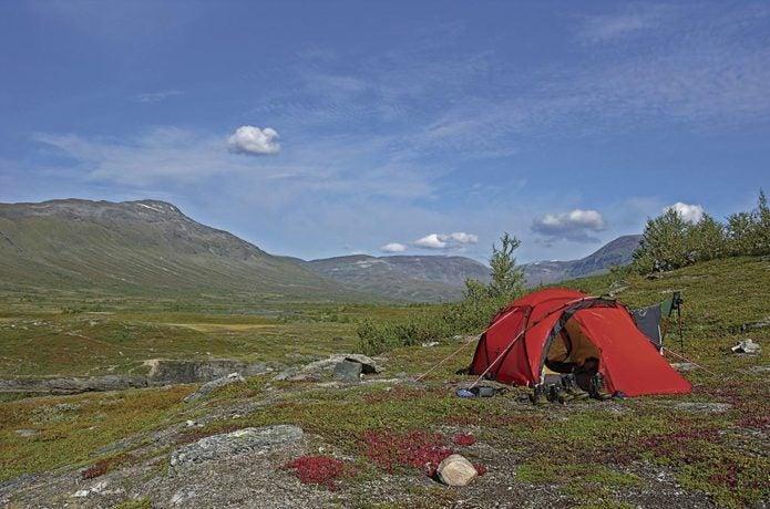 ヒルバーグのテント使用画像