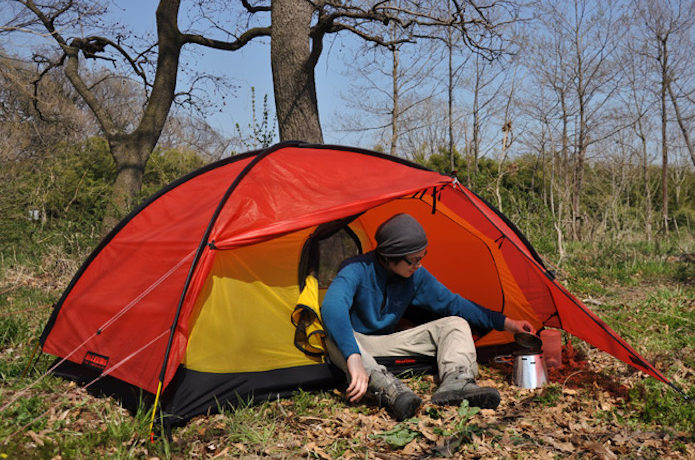 ヒルバーグのテントを使用している画像
